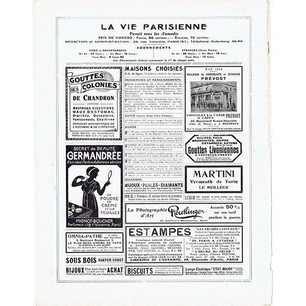 フランスの雑誌表紙 〜LA VIE PARISIENNE〜より(Louis Vallet)0490