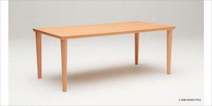 【送料無料】カリモク60+ ダイニングテーブル1800(ピュアビーチ色)