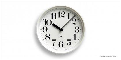 【在庫有り】Lemnos RIKI STEEL CLOCK (White) WR08-25WH
