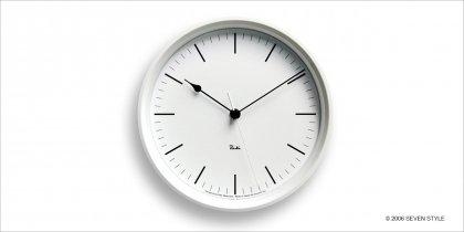 Lemnos RIKI STEEL CLOCK (White) WR08-24WH