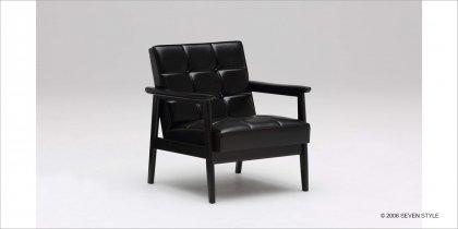【送料無料】カリモク60 Kチェア1シーター(ブラックブラック)