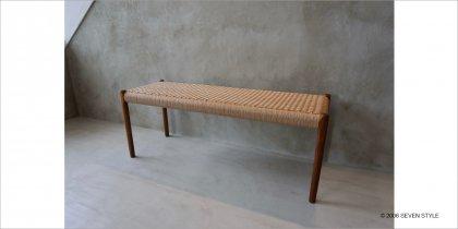 【在庫有】J.L. モラー No. 63A Bench(チーク材 / オイル仕上げ)