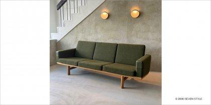 【リペア前】GETAMA / GE236 3-seater Sofa