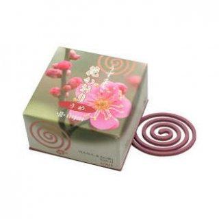 薫寿堂のお香 花かおり うめ 渦巻