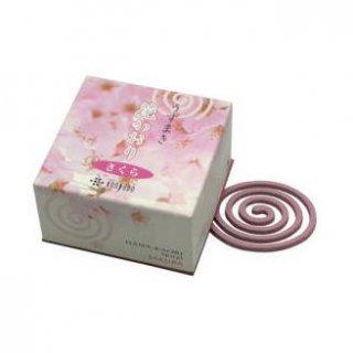 薫寿堂のお香 花かおり さくら 渦巻