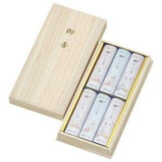 薫寿堂のお線香ギフト 花かおりスリムアソート 短寸6箱入 桐箱