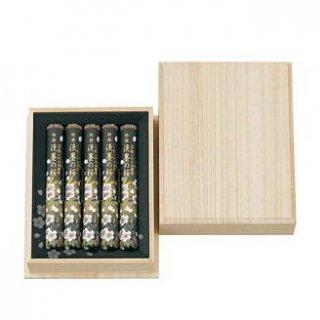 日本香堂のお線香ギフト 特撰淡墨の桜 短寸5把入 桐箱