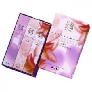 日本香堂のお線香 花風 三種入 短寸バラ詰