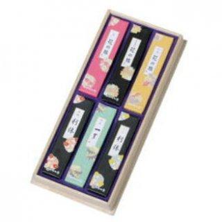 奥野晴明堂のお線香ギフト 和花6種アソート 短寸6箱入 桐箱