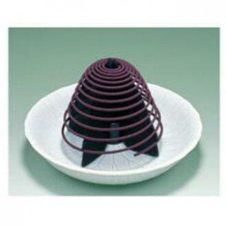 玉初堂の渦巻線香専用香炉 陶製 清蓮