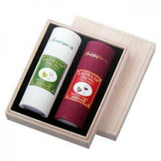 奥野晴明堂のお線香ギフト 赤・白ワイン 短寸 筒2本入 桐箱