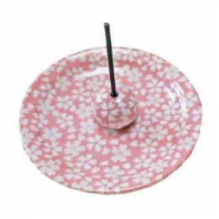 薫寿堂の香立付き香皿 花桜