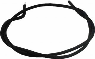Wire - Push Back Cloth for Single Coil Pickup, Black