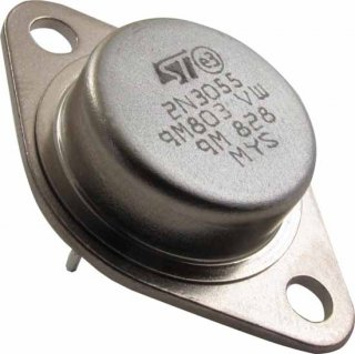 Transistor - 2N3055, High Power NPN Silicon, TO-3 Case
