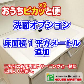 洗面所追加(床面積1平方メートル追加)