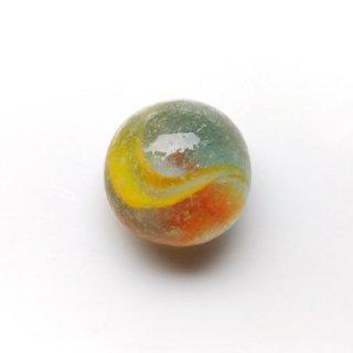 SC-4 コレクション用シーグラス(半球・黄&オレンジ)