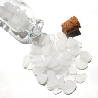 BZ-32 白色シーグラス入り小瓶オブジェ