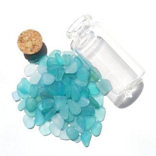 BZ-38  水色系シーグラス入り小瓶