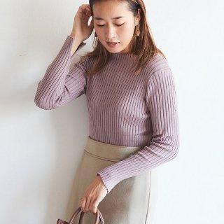 セーター/シルクカシミヤリブ