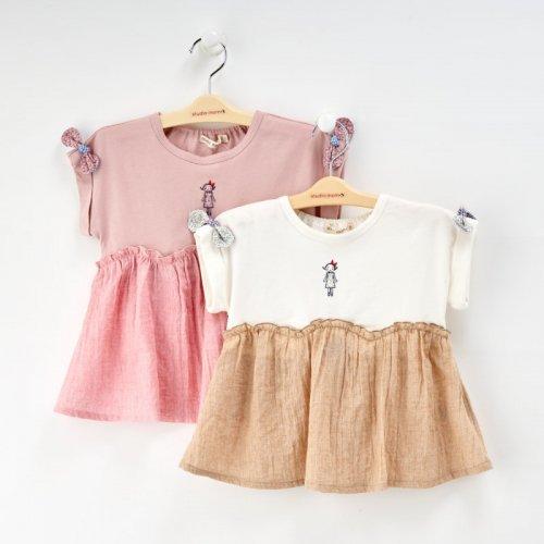 切替momoちゃん刺繍Tシャツ