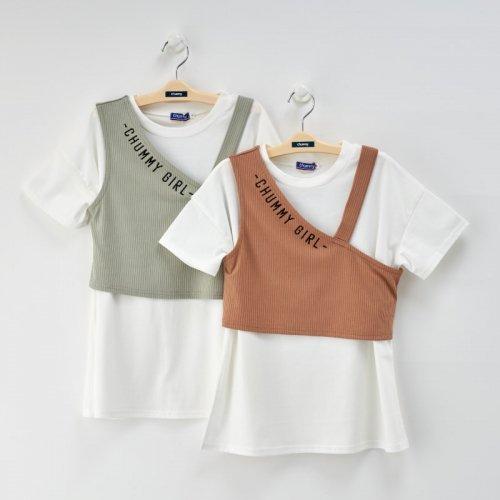 Tシャツ&ワンショルキャミSET