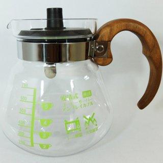 安清式コーヒーサーバー700 アンブレイカブル 「本物の木」ハンドル ウォールナット