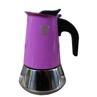 PEZZETTI ペゼッティ 直火式コーヒーメーカー ステンレスライトパープル【2cup】【ラッピング不可商品】