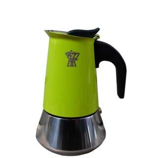 PEZZETTI ペゼッティ 直火式コーヒーメーカー ステンレスライムグリーン【2cup】 【ラッピング不可商品】