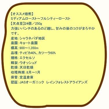 【生豆】コロンビア キョート農園無農薬 150g