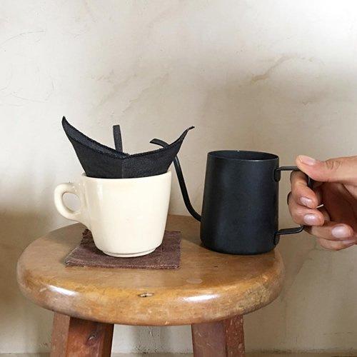 くりかえし使える 柿渋リネンのcoffeeフィルター 墨黒 5〜6杯用
