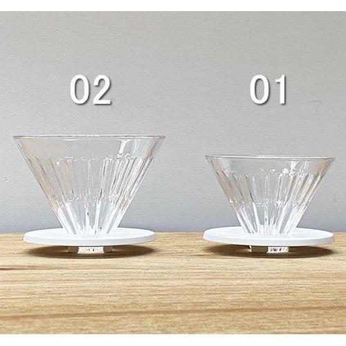 TIMEMORE クリスタルアイガラスドリッパー 02 ホワイト【正規輸入品・日本語取説付】