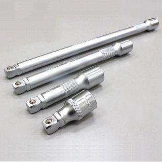 3/8(9.5sq) エクステンションバーセット オフセット式 首振りエクステンションバー セット 43mm 75mm 150mm 250mm クロームバナジウム製 1年保証