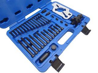 クランクプーリーホールドツール&クランクプーリープーラー クランクプーリーホルダー クランクプーリー外し 固定 工具 セット