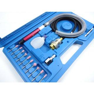 エアマイクロミニリューターキット ペンシルグラインダーセット ミニルーター ペンシル型リューター 3mmシャンク 砥石付き
