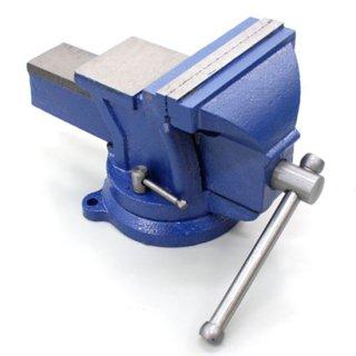 回転台付きバイス 125mm 強力バイス ベンチバイス 万力 360度 ボルト固定可能 リードバイス