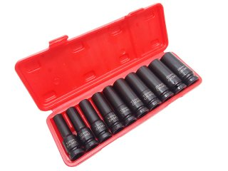 1/2(12.7) インパクトソケットセット インパクト用ディープソケット 10mm 12mm 13mm 14mm 15mm 17mm 19mm 21mm 22mm 24mm ケース付 1年保証付