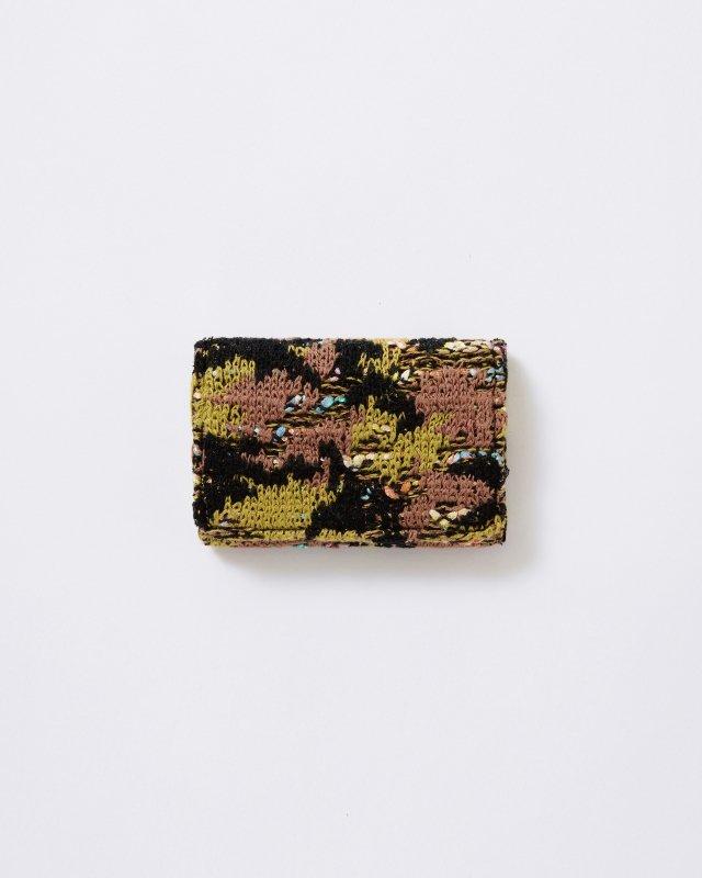 KNIT TWEED CARD CASE - CAMOUFLAGE TWEED