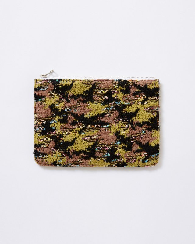 KNIT TWEED POUCH - CAMOUFLAGE TWEED