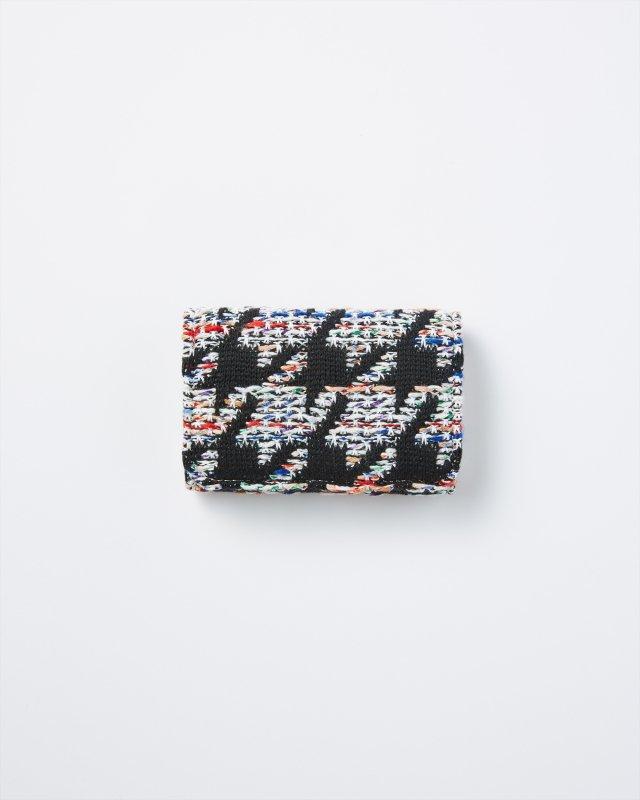 KNIT TWEED CARD CASE - HOUNDSTOOTH TWEED