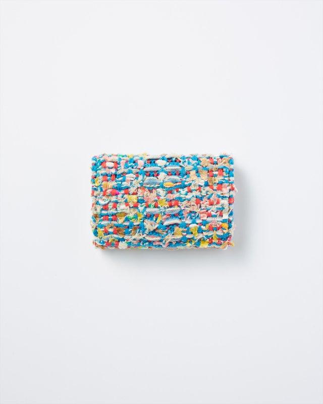KNIT TWEED CARD CASE - CHECK TWEED