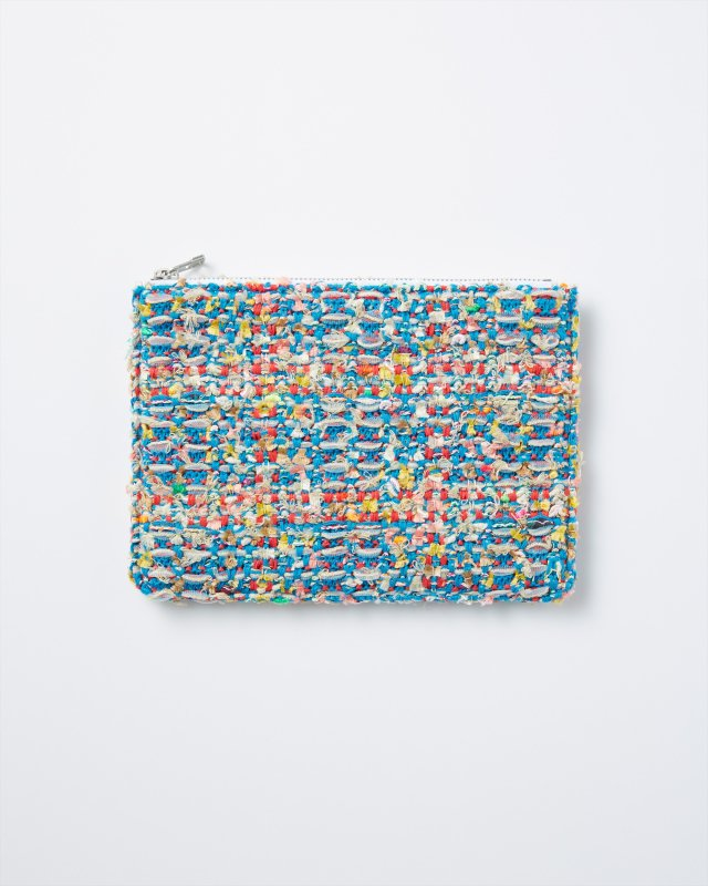 KNIT TWEED POUCH - CHECK TWEED