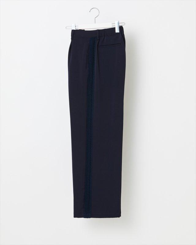 WOMEN_KNIT SIDE LINE SATIN PANTS