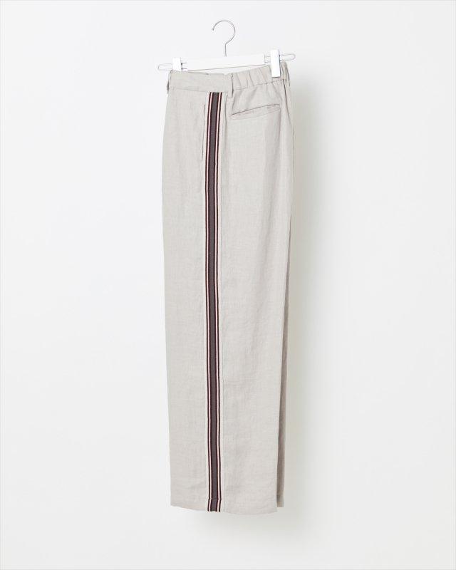 WOMEN_KNIT SIDE LINE LINEN PANTS