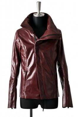 <img class='new_mark_img1' src='https://img.shop-pro.jp/img/new/icons8.gif' style='border:none;display:inline;margin:0px;padding:0px;width:auto;' />Fagassent - Wine Red High Neck leather jacket-