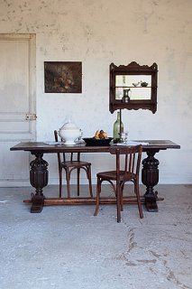 荘厳なレフェクトリーテーブル-antique oak refectory table
