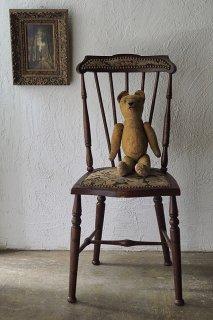 ゴブラン織りのエドワーディアンチェア-antique england chair