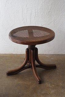 ラタンピアノスツール-bentwood round stool