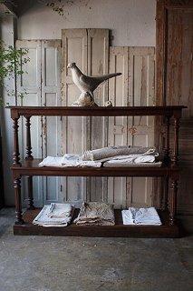 連連たる大きなウッドシェルフ-antique oak wood shelf