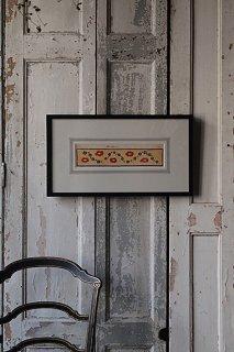 小花咲く原種の風景-watercolor painting frame