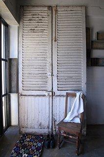 風が通る、ルーバードア-antique french door